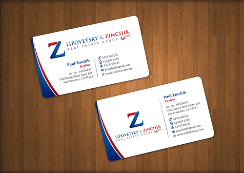 Lipovetsky & Zinchik Real Eastate Group cards and stationary  Business Cards and Stationery  Draft # 34 by einsanimation