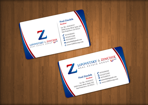 Lipovetsky & Zinchik Real Eastate Group cards and stationary  Business Cards and Stationery  Draft # 36 by einsanimation
