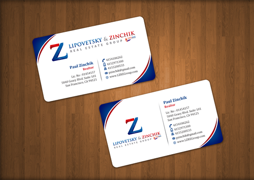 Lipovetsky & Zinchik Real Eastate Group cards and stationary  Business Cards and Stationery  Draft # 39 by einsanimation