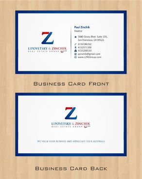 Lipovetsky & Zinchik Real Eastate Group cards and stationary  Business Cards and Stationery  Draft # 65 by Deck86