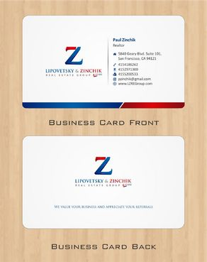 Lipovetsky & Zinchik Real Eastate Group cards and stationary  Business Cards and Stationery  Draft # 66 by Deck86