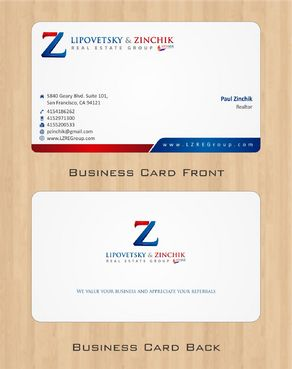 Lipovetsky & Zinchik Real Eastate Group cards and stationary  Business Cards and Stationery  Draft # 89 by Deck86