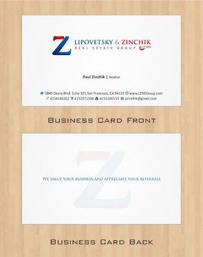 Lipovetsky & Zinchik Real Eastate Group cards and stationary  Business Cards and Stationery  Draft # 100 by Deck86
