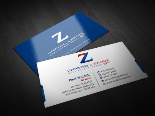 Lipovetsky & Zinchik Real Eastate Group cards and stationary  Business Cards and Stationery  Draft # 111 by einsanimation