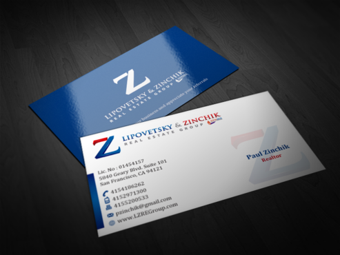 Lipovetsky & Zinchik Real Eastate Group cards and stationary  Business Cards and Stationery  Draft # 112 by einsanimation