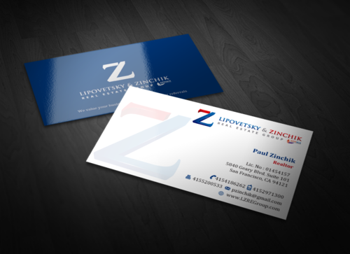 Lipovetsky & Zinchik Real Eastate Group cards and stationary  Business Cards and Stationery  Draft # 121 by einsanimation