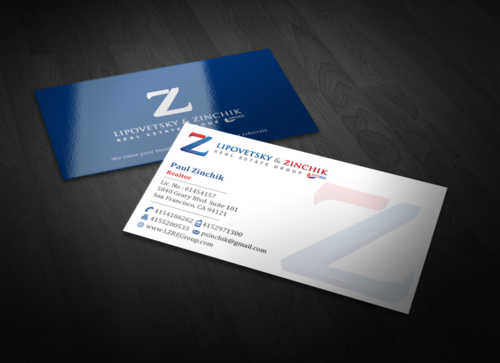 Lipovetsky & Zinchik Real Eastate Group cards and stationary  Business Cards and Stationery  Draft # 123 by einsanimation