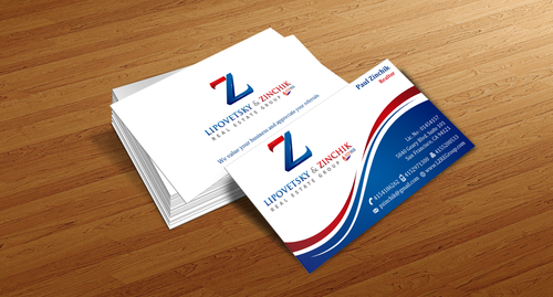 Lipovetsky & Zinchik Real Eastate Group cards and stationary  Business Cards and Stationery  Draft # 125 by einsanimation