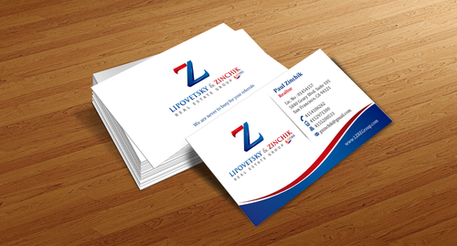 Lipovetsky & Zinchik Real Eastate Group cards and stationary  Business Cards and Stationery  Draft # 126 by einsanimation