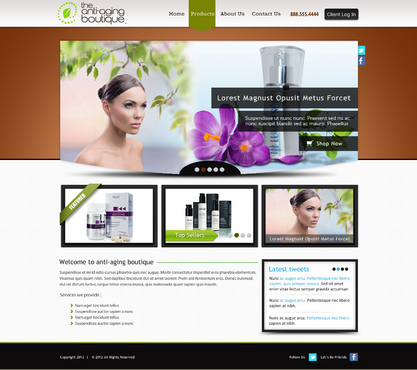 The Anti-Aging Boutique Website