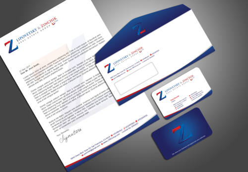 Lipovetsky & Zinchik Real Eastate Group cards and stationary  Business Cards and Stationery  Draft # 133 by artup14