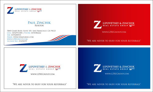Lipovetsky & Zinchik Real Eastate Group cards and stationary  Business Cards and Stationery  Draft # 174 by waqasss