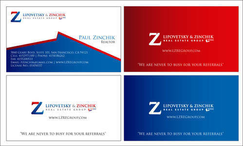 Lipovetsky & Zinchik Real Eastate Group cards and stationary  Business Cards and Stationery  Draft # 182 by waqasss