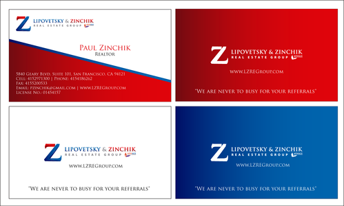 Lipovetsky & Zinchik Real Eastate Group cards and stationary  Business Cards and Stationery  Draft # 183 by waqasss