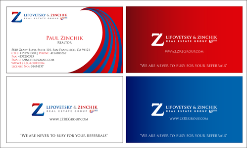 Lipovetsky & Zinchik Real Eastate Group cards and stationary  Business Cards and Stationery  Draft # 184 by waqasss