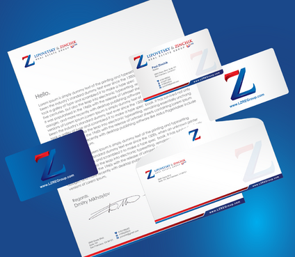 Lipovetsky & Zinchik Real Eastate Group cards and stationary  Business Cards and Stationery  Draft # 190 by cArnn
