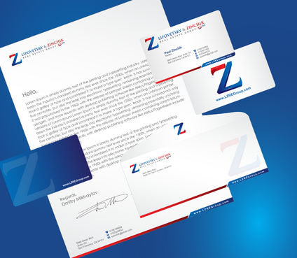 Lipovetsky & Zinchik Real Eastate Group cards and stationary  Business Cards and Stationery  Draft # 192 by cArnn
