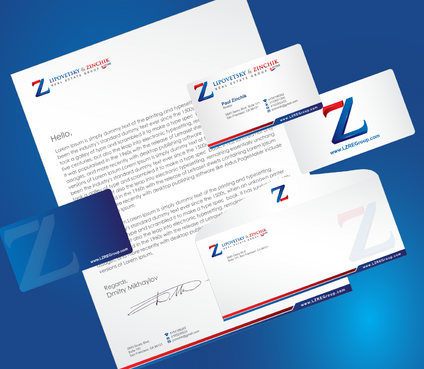 Lipovetsky & Zinchik Real Eastate Group cards and stationary  Business Cards and Stationery  Draft # 193 by cArnn