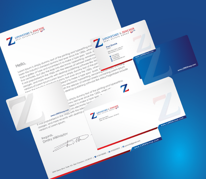 Lipovetsky & Zinchik Real Eastate Group cards and stationary  Business Cards and Stationery  Draft # 194 by cArnn