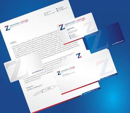 Lipovetsky & Zinchik Real Eastate Group cards and stationary  Business Cards and Stationery  Draft # 195 by cArnn