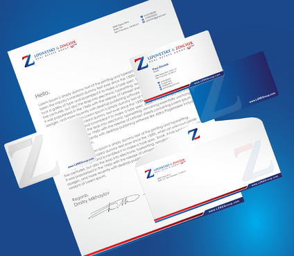 Lipovetsky & Zinchik Real Eastate Group cards and stationary  Business Cards and Stationery  Draft # 196 by cArnn