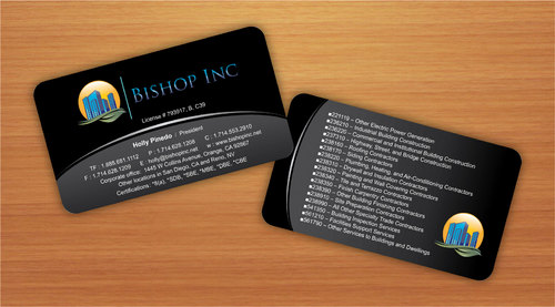 business cards, stationary, email signature