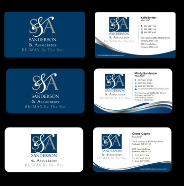 Business cards for three team members.  Letterhead and Envelope for Team.