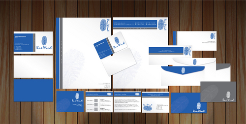 Stationery design for wind power engineering company