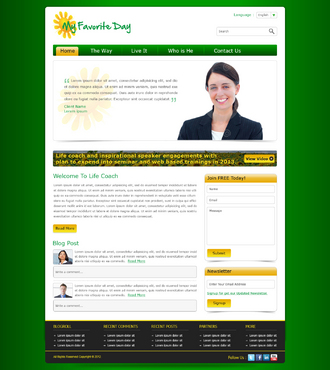 Website for Life Coach Web Design  Draft # 19 by kushnitin
