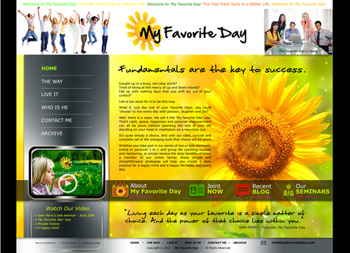 Website for Life Coach Web Design  Draft # 22 by shirly