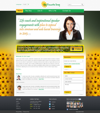 Website for Life Coach Web Design  Draft # 27 by kushnitin