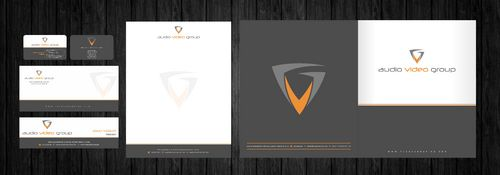 Biz Card,Letterhead,Presentation Folder,Envelope