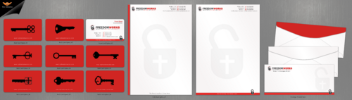 Business Cards, Letterhead, Envelopes, Fax Cover Sheet, Email Signature, Powerpoint Template