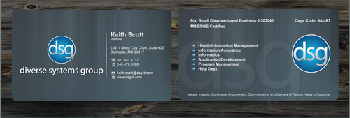 Business Cards for DSG