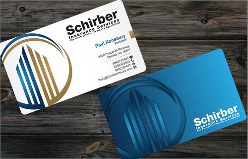 "Schirber Insurance Services ""The Contractor's Insurance Specialists"" Business Cards and Stationery  Draft # 2 by cArnn"