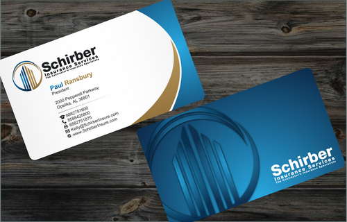 "Schirber Insurance Services ""The Contractor's Insurance Specialists"" Business Cards and Stationery  Draft # 4 by cArnn"