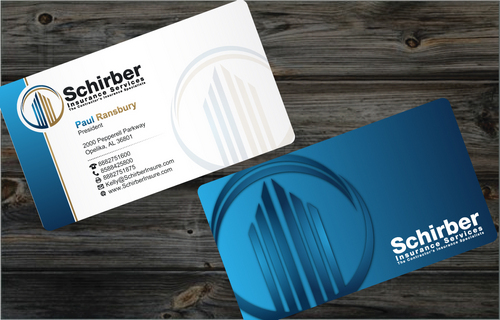 "Schirber Insurance Services ""The Contractor's Insurance Specialists"" Business Cards and Stationery  Draft # 7 by cArnn"