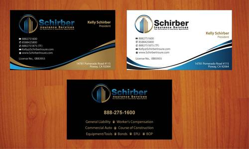 "Schirber Insurance Services ""The Contractor's Insurance Specialists"" Business Cards and Stationery  Draft # 107 by smartinfo"