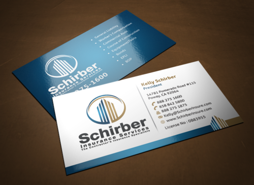 "Schirber Insurance Services ""The Contractor's Insurance Specialists"" Business Cards and Stationery  Draft # 116 by einsanimation"