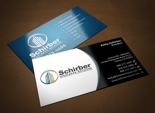 "Schirber Insurance Services ""The Contractor's Insurance Specialists"" Business Cards and Stationery  Draft # 115 by einsanimation"