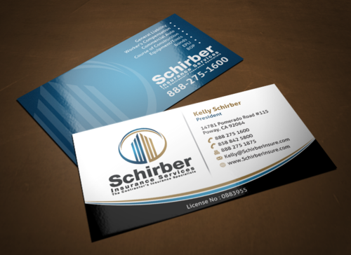 "Schirber Insurance Services ""The Contractor's Insurance Specialists"" Business Cards and Stationery  Draft # 117 by einsanimation"