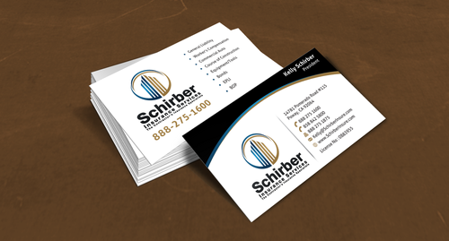 "Schirber Insurance Services ""The Contractor's Insurance Specialists"" Business Cards and Stationery  Draft # 118 by einsanimation"