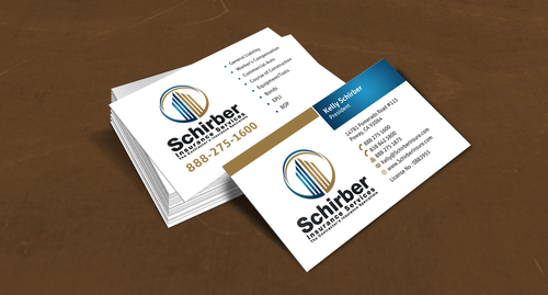 "Schirber Insurance Services ""The Contractor's Insurance Specialists"" Business Cards and Stationery  Draft # 124 by einsanimation"