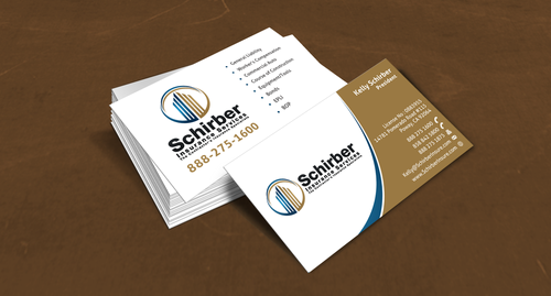 "Schirber Insurance Services ""The Contractor's Insurance Specialists"" Business Cards and Stationery  Draft # 123 by einsanimation"