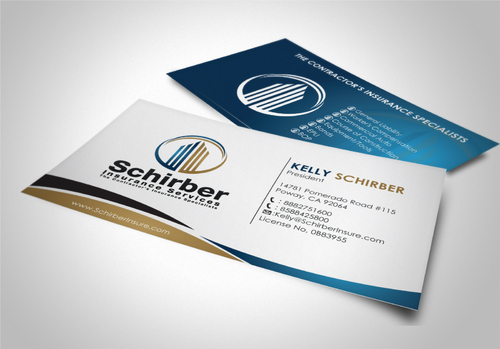 "Schirber Insurance Services ""The Contractor's Insurance Specialists"" Business Cards and Stationery  Draft # 160 by sevensky"