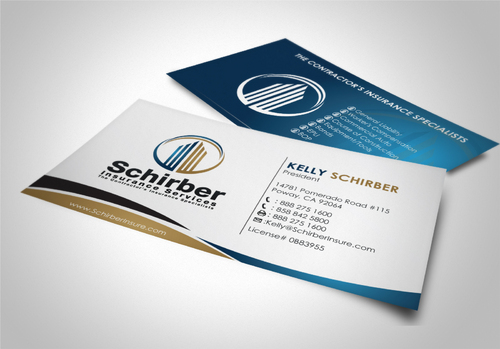 "Schirber Insurance Services ""The Contractor's Insurance Specialists"" Business Cards and Stationery  Draft # 164 by sevensky"