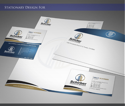 "Schirber Insurance Services ""The Contractor's Insurance Specialists"" Business Cards and Stationery  Draft # 172 by sevensky"