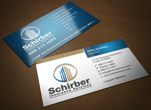 "Schirber Insurance Services ""The Contractor's Insurance Specialists"" Business Cards and Stationery  Draft # 185 by einsanimation"