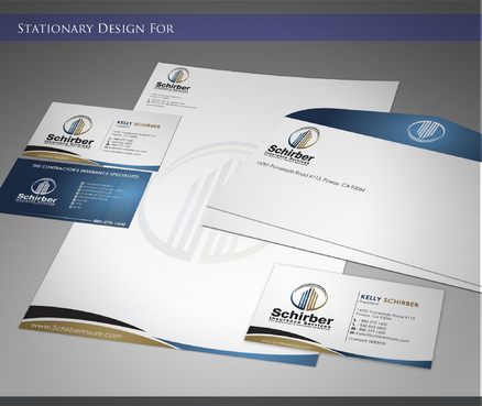 "Schirber Insurance Services ""The Contractor's Insurance Specialists"" Business Cards and Stationery  Draft # 192 by sevensky"