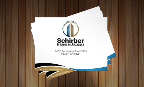 "Schirber Insurance Services ""The Contractor's Insurance Specialists"" Business Cards and Stationery  Draft # 193 by sevensky"